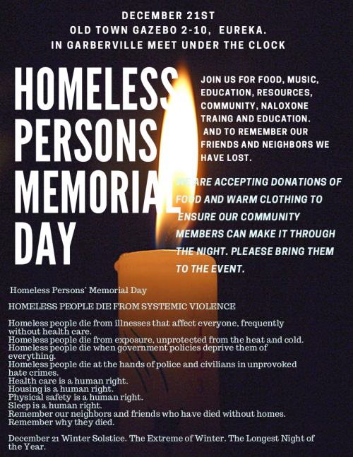 Homeless Persons Memorial Day