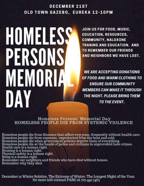 Homeless Persons Memorial Day, Dec 21_Eur2018